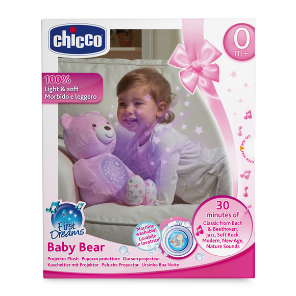 Chicco First Dream Baby Bear Baby Nigh Light – Girl