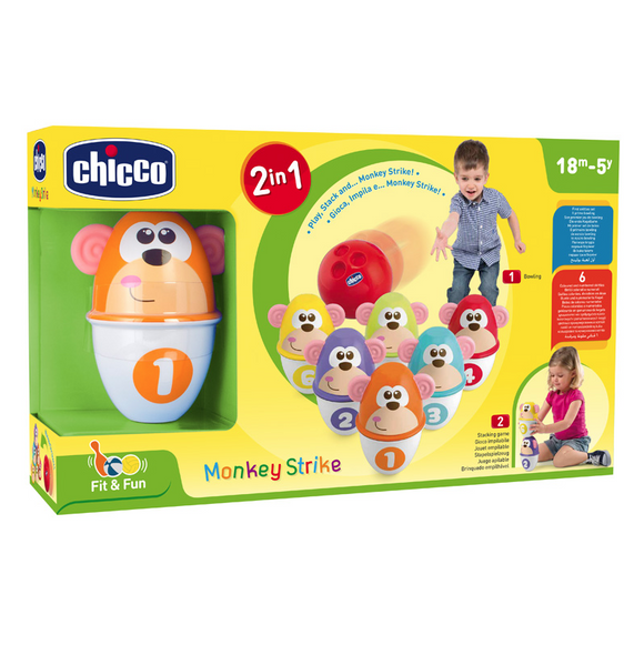 Chicco Fit & Fun Monkey Strike Baby Toy