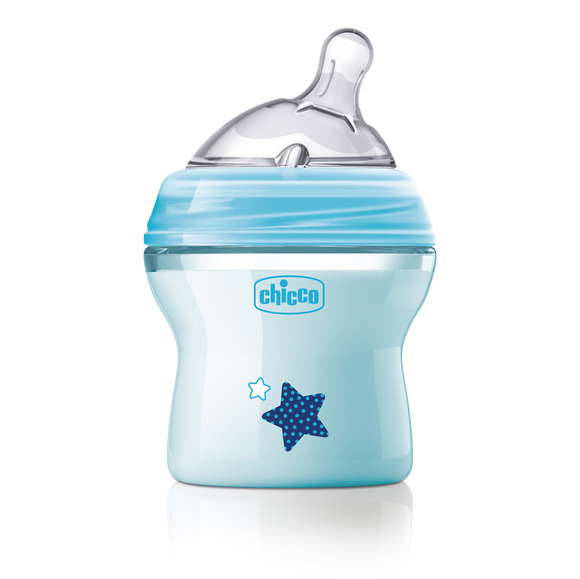 Chicco Natural Feeling Colour Baby Bottles – Blue 150ml