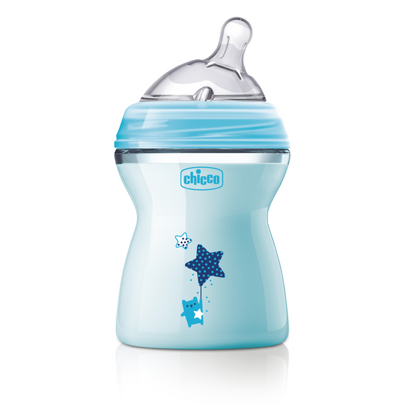 Chicco Natural Feeling Colour Baby Bottles – Blue 250ml