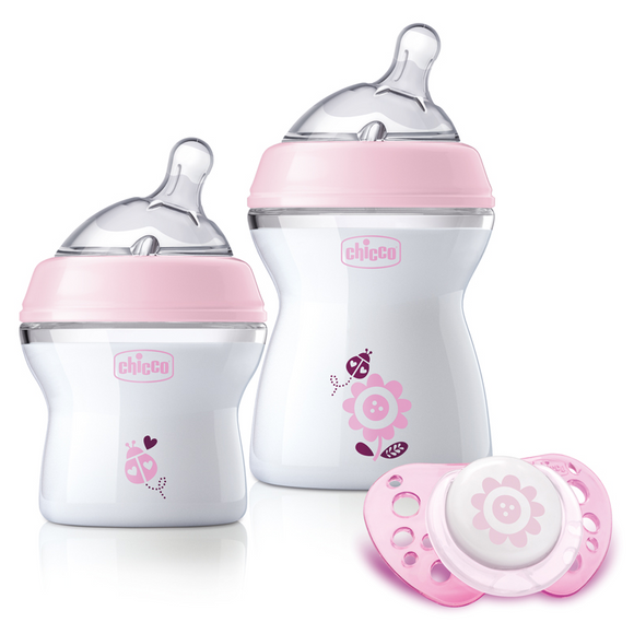 Chicco Natural Feeling Feeding Gift Set Girl – Pink