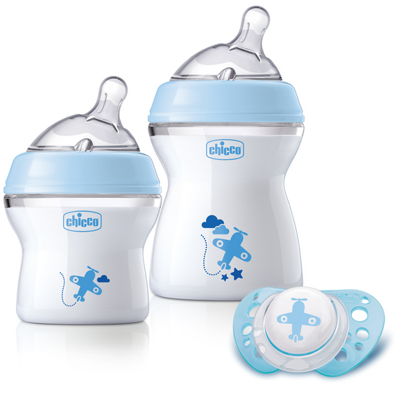Chicco Natural Feeling Feeding Gift Set Girl – Blue
