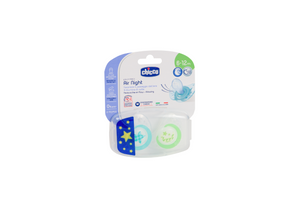Chicco Soother Physio Air 6-12m 2pc In Case – Lumi Glow in the Dark