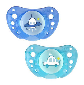 Chicco Soother Physio Air 12m+ 2pc In Case – Blue