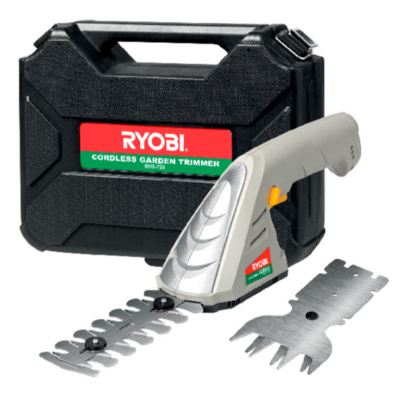 RYOBI | Hand Hedge Trimmer And Grass Shear 7,2v Li-Ion In Carry Case BHS-720