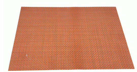 Place Mat | BROAD WEAVE ORANGE PLACEMAT 30CM X 45CM