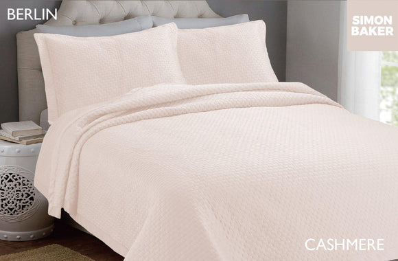 Simon Baker | Berlin Bedspread Cashmere (Various Sizes)