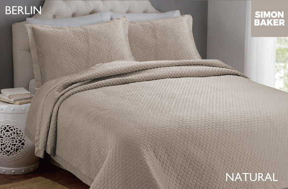 Simon Baker | Berlin Bedspread Natural (Various Sizes)