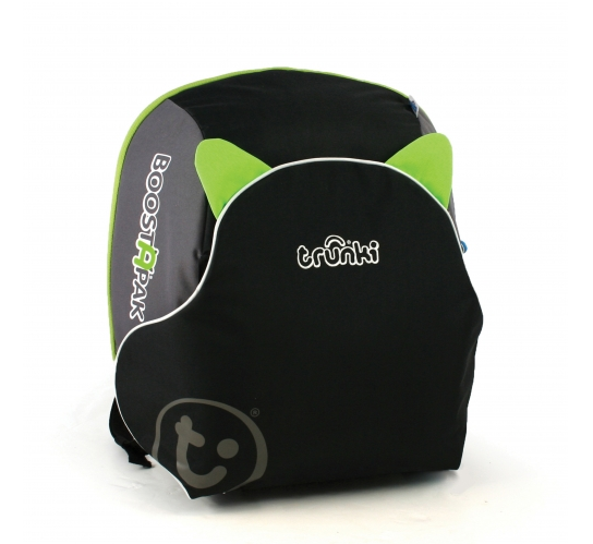 Trunki BoostApak 2 in 1 Kids Backpack and Car Seat Green