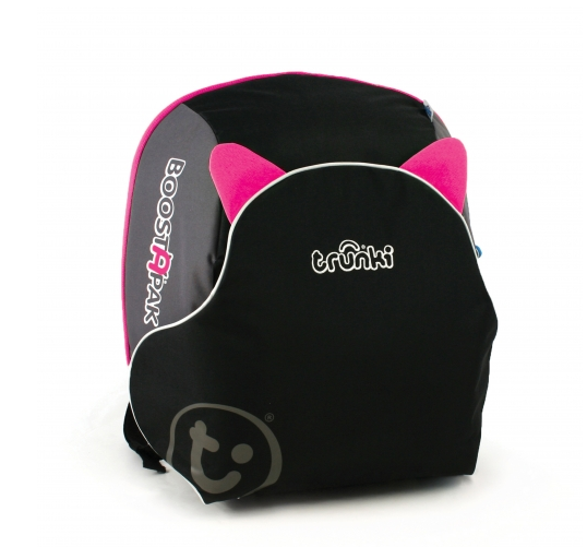 Trunki BoostApak 2 in 1 Kids Backpack and Car Seat Black & Pink