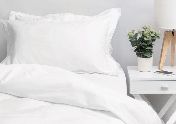 1000 Thread Count White Double Duvet Cover Set