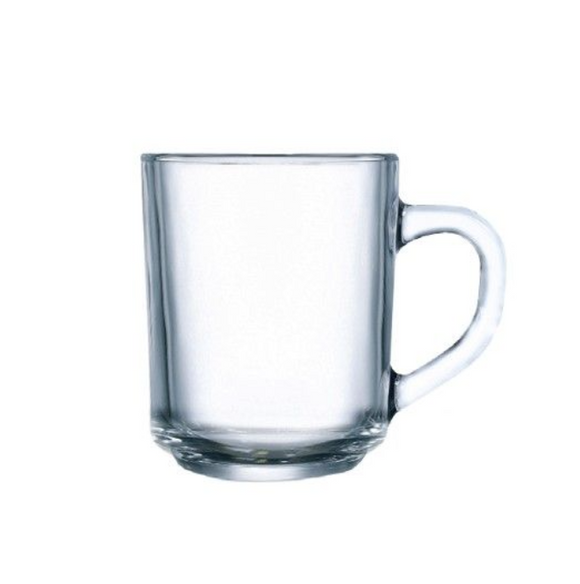 Clear Glass Mug | ARC STACKABLE MUG TEMPERED 250ML (Set of 6)