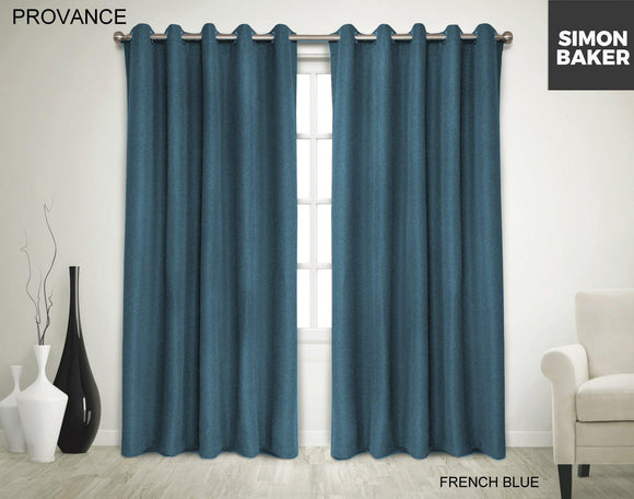 Simon Baker | Provance Eyelet Curtain French Blue (Various Sizes)