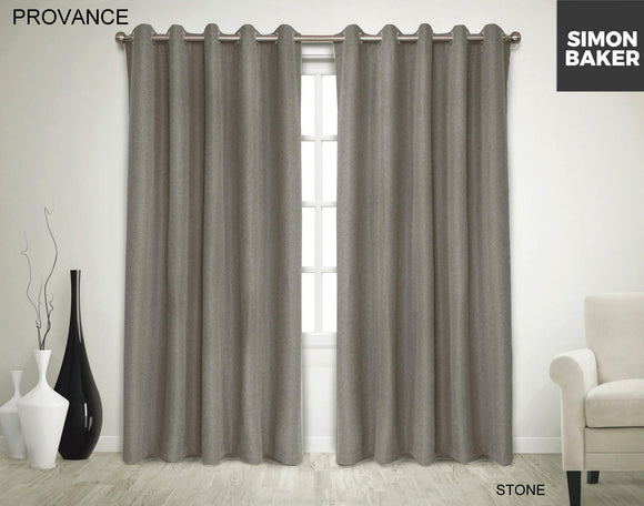 Simon Baker | Provance Eyelet Curtain Stone (Various Sizes)
