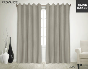 Simon Baker | Provance Eyelet Curtain Taupe (Various Sizes)
