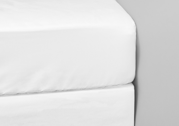 1000 Thread Count White Double Fitted Sheet