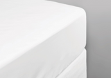 550 Thread Count White Double Fitted Sheet