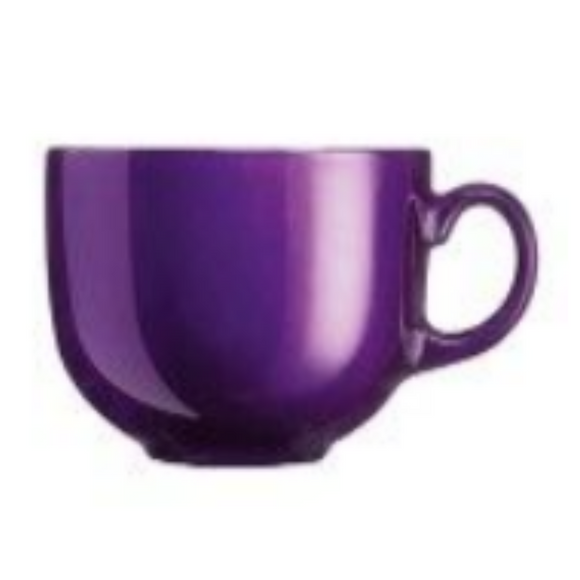 ARC Flashy Breakfast Cup/Mug Purple 500ML (Set of 6)