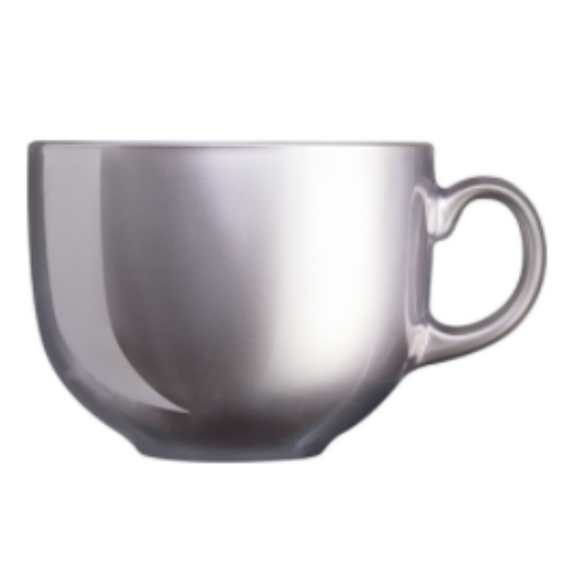 ARC Flashy Breakfast Cup/Mug Silver 500ML (Set of 6)