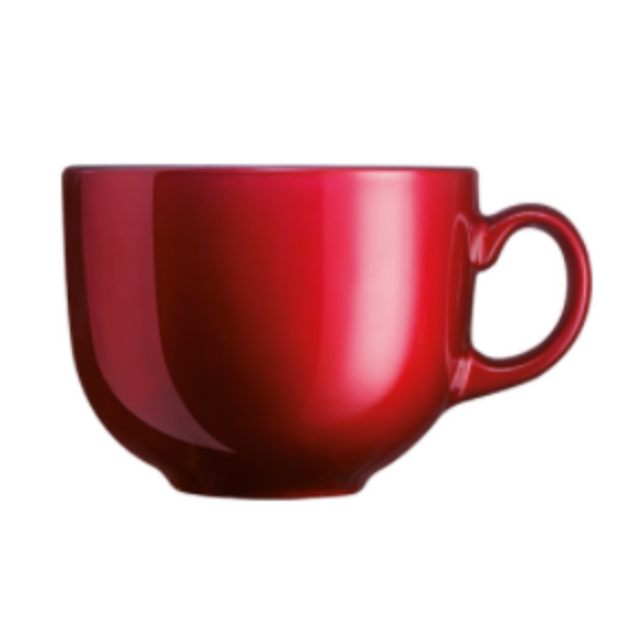 ARC Flashy Breakfast Cup/Mug Red 500ML (Set of 6)