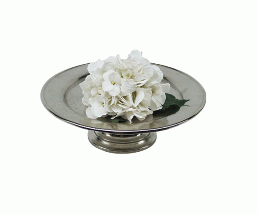 ALUMINIUM CAKE STAND ON BASE NICKEL FINISH 33X10 CM