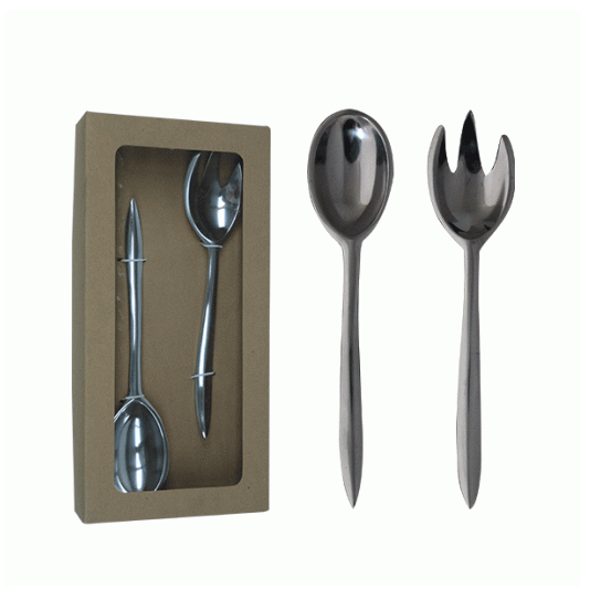 ALUMINIUM 2PC SALAD SERVER SET 28CM