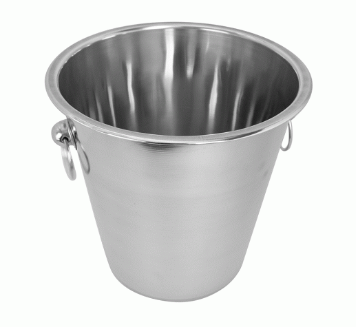WINE BUCKET WITH RINGS S/STEEL 4L 21CM X 21CM