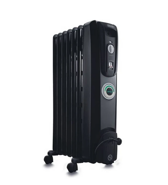 DELONGHI 7 Fin Oil Heater Black