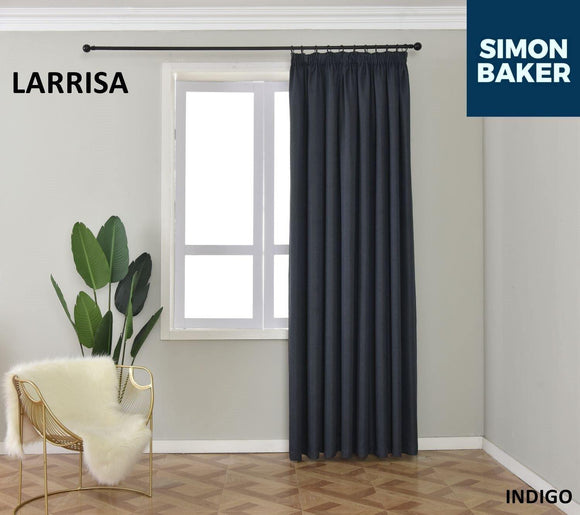 Simon Baker | Larissa Tape Indigo Curtain (Various Sizes)