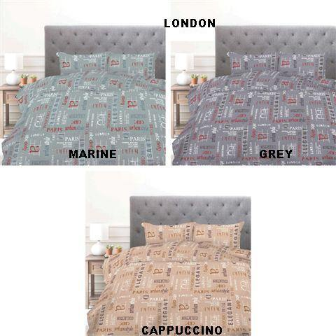 Simon Baker | London Printed Duvet Set (Various Colours & Sizes)