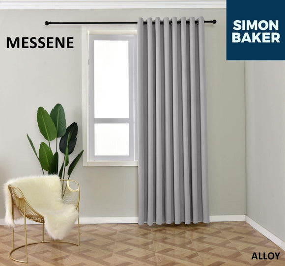 Simon Baker | Messene Eyelet Alloy Curtain (Various Sizes)
