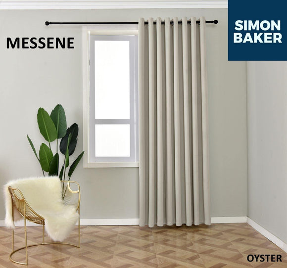 Simon Baker | Messene Eyelet Oyster Curtain (Various Sizes)