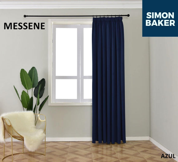 Simon Baker | Messene Tape Azul Curtain (Various Sizes)