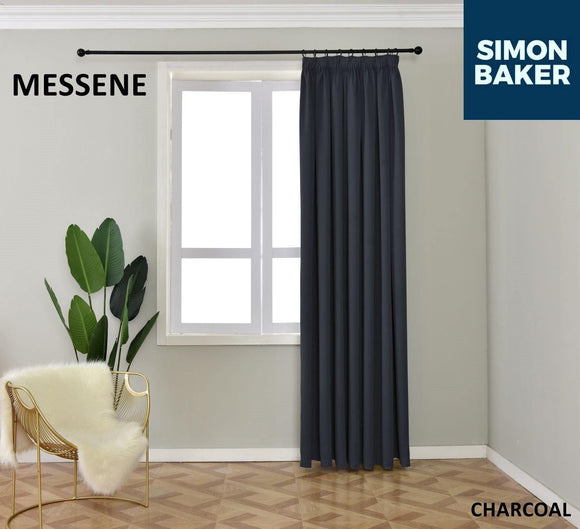 Simon Baker | Messene Tape Charcoal Curtain (Various Sizes)