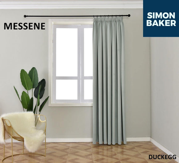 Simon Baker | Messene Tape Duck Egg Curtain (Various Sizes)