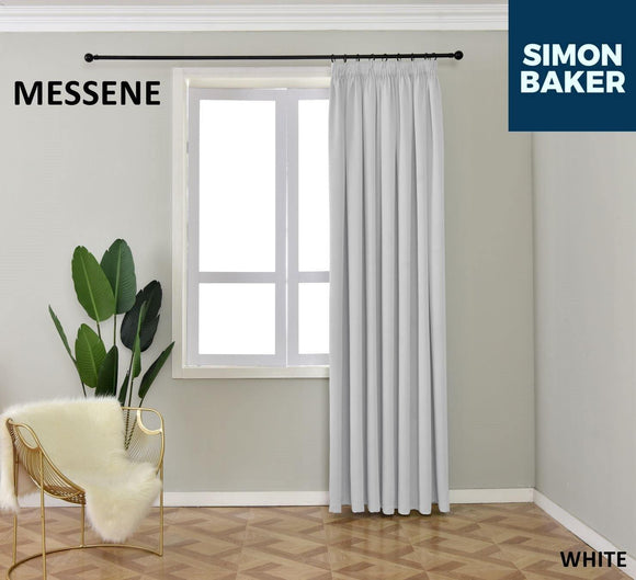 Simon Baker | Messene Tape White Curtain (Various Sizes)