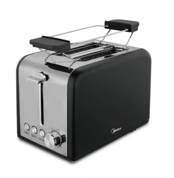 MIDEA 2 Slice Toaster With Toaster Rack Black