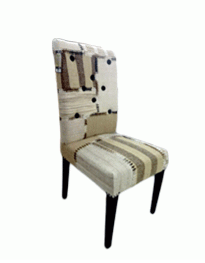 NATURAL CHECK DINING CHAIR