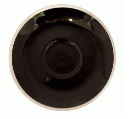 Style Saucer | NOVA STYLE Black SAUCER 12CM - FOR 70ML CUP (Set of 6)