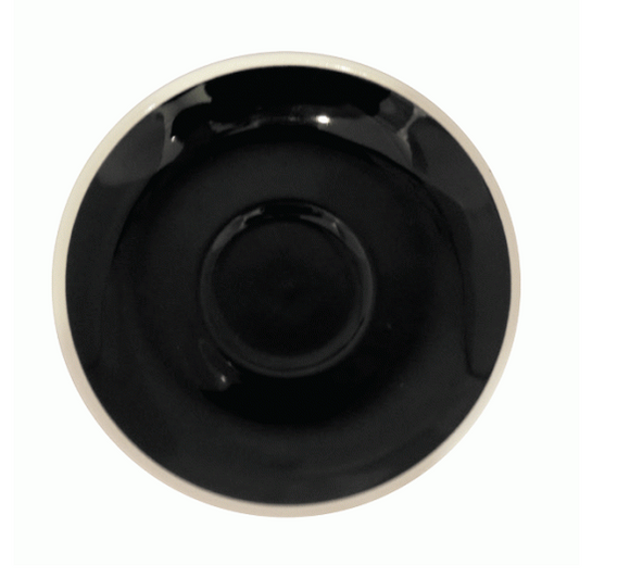 Style Saucer | NOVA  STYLE Black SAUCER 14CM - FOR 160ML CUP (Set of 6)