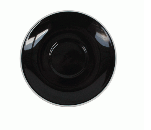 Style Saucer | NOVA STYLE Black SAUCER 15CM - FOR 300ML CUP (Set of 6)
