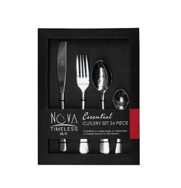 24PC NOVA TIMELESS ESSENTIALS Cutlery Set In Box