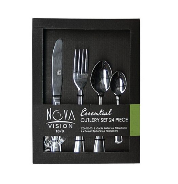24PC NOVA VISION Essential Cutlery Set In Box