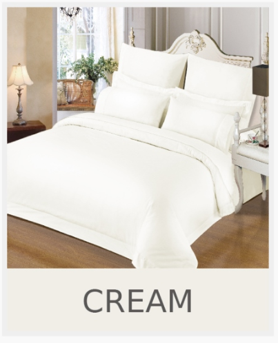 Simon Baker | 230 Thread Count Hotel Collection Duvet Cover Cream (Various Sizes)