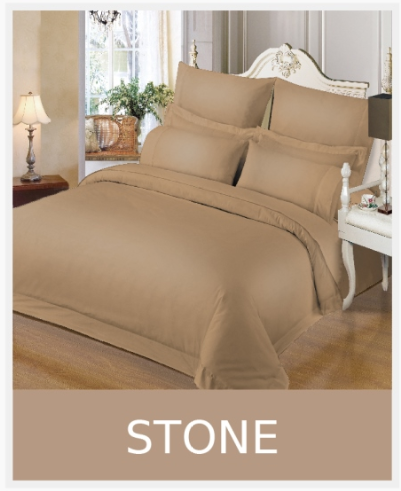 Simon Baker | 230 Thread Count Hotel Collection Duvet Cover Stone (Various Sizes)