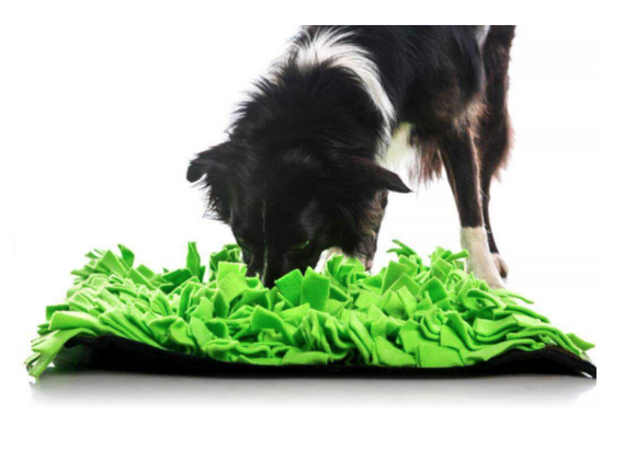 Dog Interactive Toy | 50 x 50cm Green Snuffle Mat
