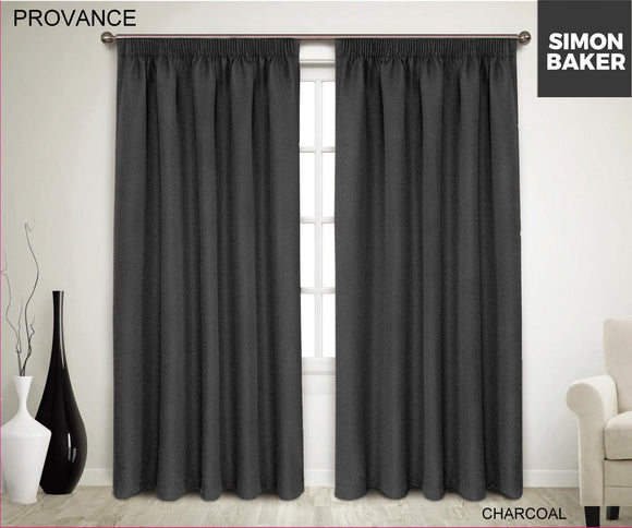 Simon Baker | Provance Tape Curtain Charcoal (Various Sizes)