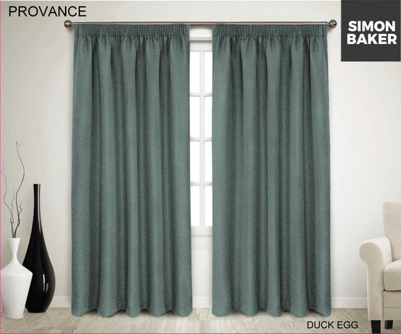 Simon Baker | Provance Tape Curtains Duck Egg (Various Sizes)