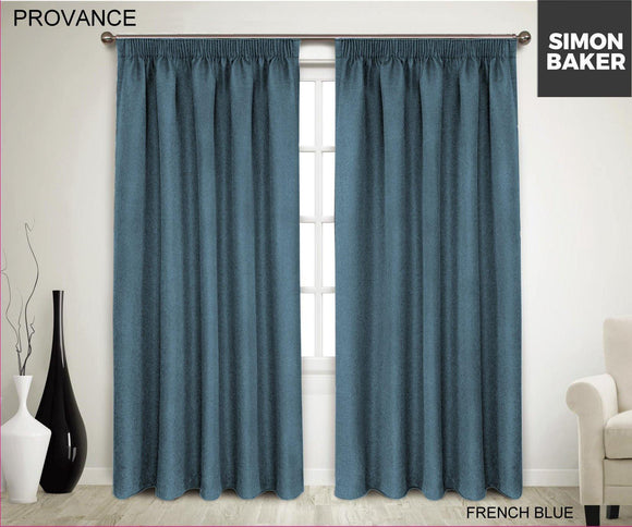 Simon Baker | Provance Tape Curtain French Blue (Various Sizes)