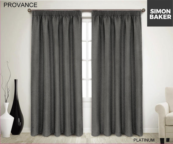 Simon Baker | Provance Tape Curtains Platinum (Various Sizes)